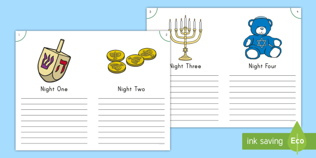 Hanukkah Diary Writing Frames - Independent Writing, Inventive