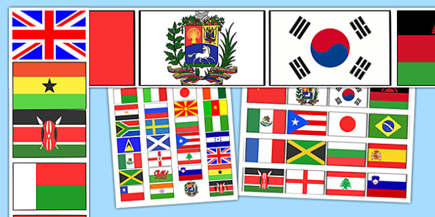 Flags of the World Display Borders - flags of the world, flags, display borders, borders, borders for display, classroom display, border display, display