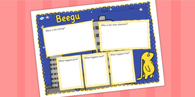 Book Review Writing Frame to Support Teaching on Beegu - beegu, book review, writing frame, book review writing frame, writing aid, writing template, writing, literacy, english