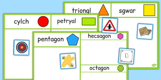 2D Shape Sorting Activity Cymraeg - welsh, cymraeg, 2d shape, sorting activity, sorting, activity