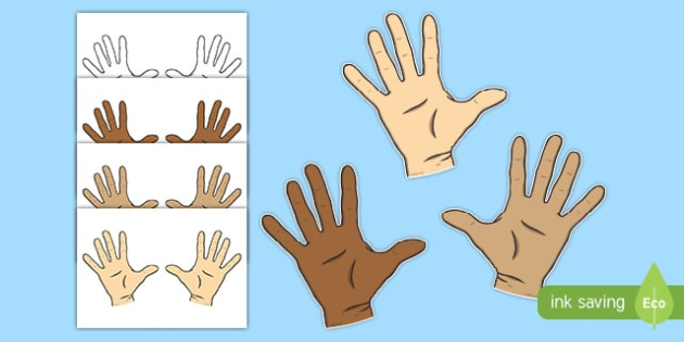 Hands Display Cut Outs