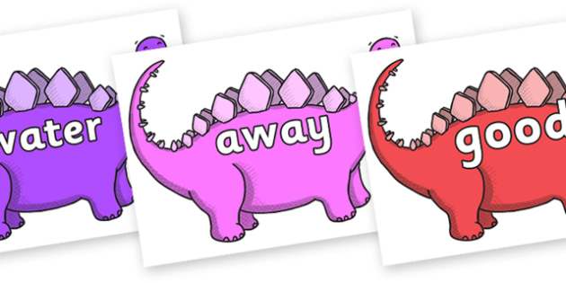 Next 200 Common Words on Stegosaurus - Next 200 Common Words on  - DfES Letters and Sounds, Letters and Sounds, Letters and sounds words, Common words, 200 common words