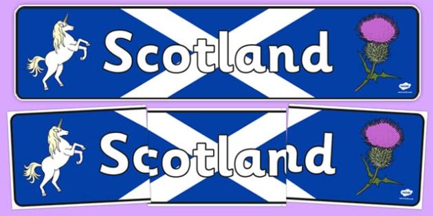 Scotland Role Play Display Banner - scotland, role play, display banner, display, banner