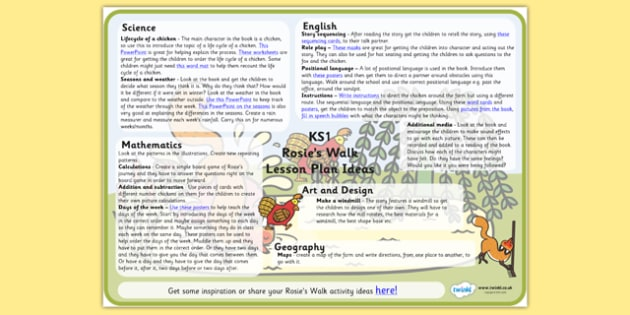 Lesson Plan Ideas KS1 to Support Teaching on Rosie's Walk - rosies, walk, lesson, plan, lesson plan, ideas, lesson ideas, KS1, KS1 ideas, rosies walk KS1, KS1 lesson plan