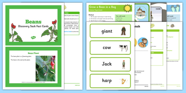 EYFS Jack and the Beanstalk Discovery Sack - EYFS, Early Years, KS1, Key Stage 1, understanding the world, science, beans, growing