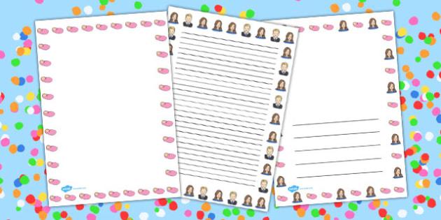 Royal Princess Page Borders - royal, princess, page, borders