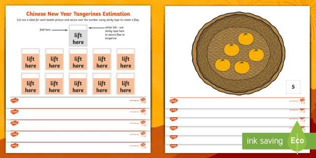 chinese new year tangerines estimation worksheet activity. Black Bedroom Furniture Sets. Home Design Ideas