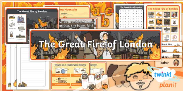 Time Travel: The Great Fire of London Y1 Display Pack - Samuel Pepys, Samuel Peeps, 1666, Pudding Lane, Charles II
