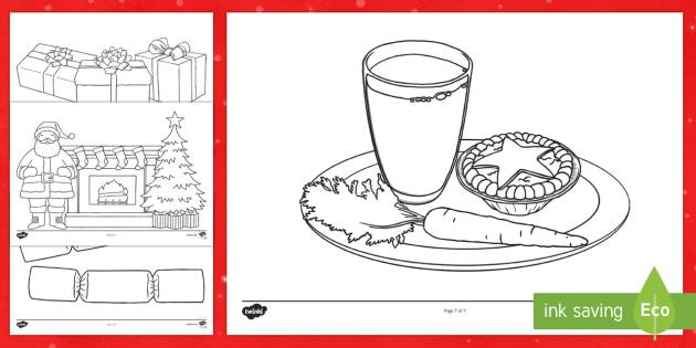 Taflenni Lliwio Y Nadolig - nadolig, ndolig, nadolig meithrin, lliwio, Welsh, christmas, christmas colouring