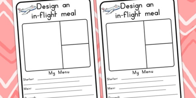 Design An In Flight Meal - airport, airline, role play, design