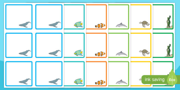 Under the Sea-Themed Square Peg Labels