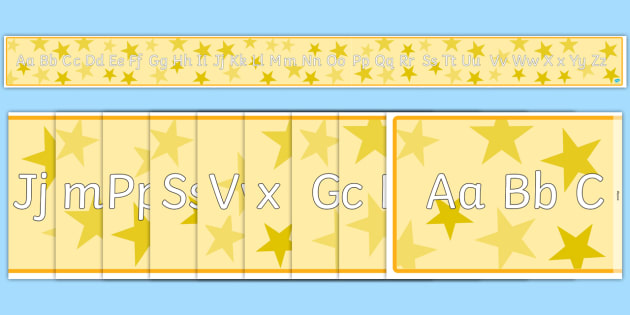Long Alphabet Banner - long, alphabet, banner, display, display banner