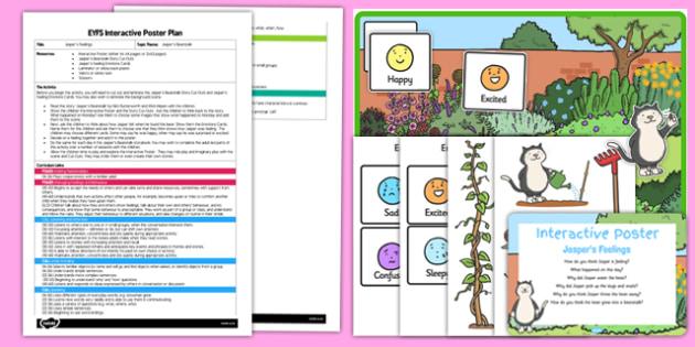 EYFS Jasper's Feelings Interactive Poster Plan and Resource Pack to Support Teaching on Jasper's Beanstalk