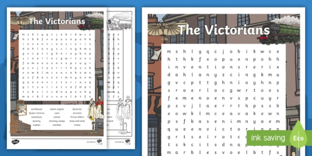 Victorian Word Search | KS2 | The Victorians (teacher made)