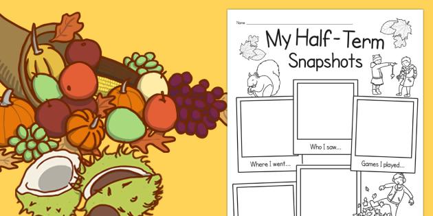 Autumn Half-Term Snapshots - autumn, half term, snapshots, term, half, school, activity