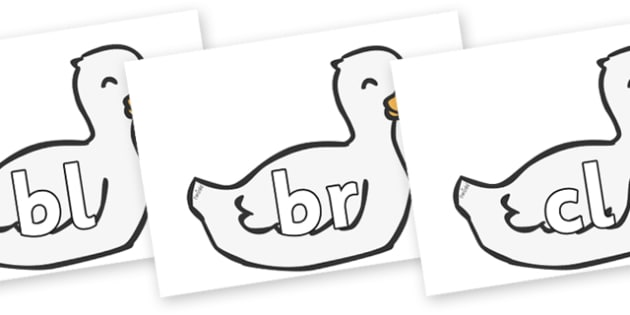 Initial Letter Blends on Mother Duck - Initial Letters, initial letter, letter blend, letter blends, consonant, consonants, digraph, trigraph, literacy, alphabet, letters, foundation stage literacy