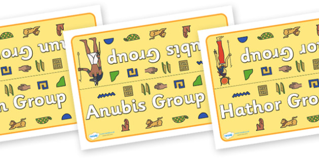 Class Table Group Signs (Ancient Egyptians) -  Ancient Egyptian, history, group signs, group labels, group table signs, table sign, teaching groups, class group, class groups, table label, Egyptians, Egypt, pyramids, Pharaoh, hierogliphics, hieroglyp