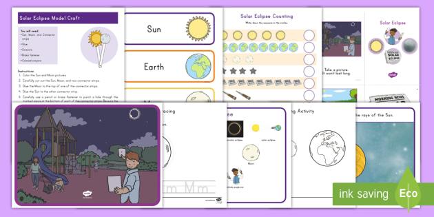 Solar Eclipse Early Childhood Activity Pack - 2017, preschool, activities