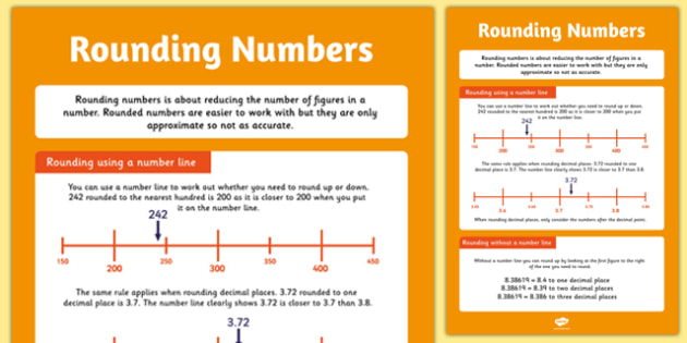 Large Rounding Numbers Poster - rounding, number, display, poster