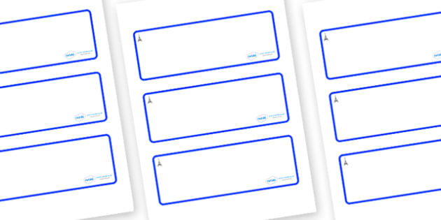 Paris Themed Editable Drawer-Peg-Name Labels (Blank) - Themed Classroom Label Templates, Resource Labels, Name Labels, Editable Labels, Drawer Labels, Coat Peg Labels, Peg Label, KS1 Labels, Foundation Labels, Foundation Stage Labels, Teaching Labels