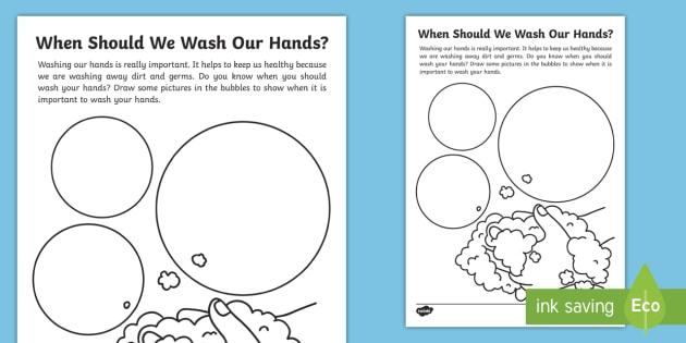 new when should we wash our hands handwashing worksheet early years. Black Bedroom Furniture Sets. Home Design Ideas