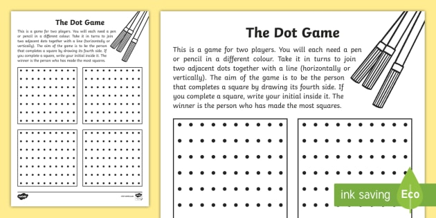 graphic relating to Dots Game Printable referred to as Dot Video game Worksheet / Worksheet - excursion, household, little ones