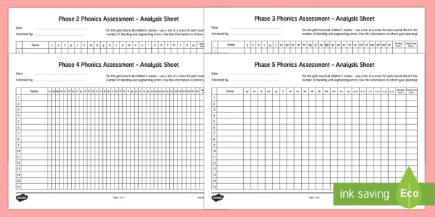 phase 2 to 5 phonics letters and sounds analysis pack phase 2 5 phonics