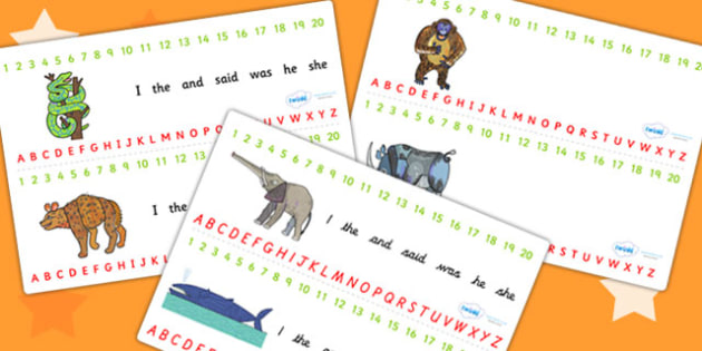 Combined Number and Alphabet Strips to Support Teaching on The Bad Tempered Ladybird