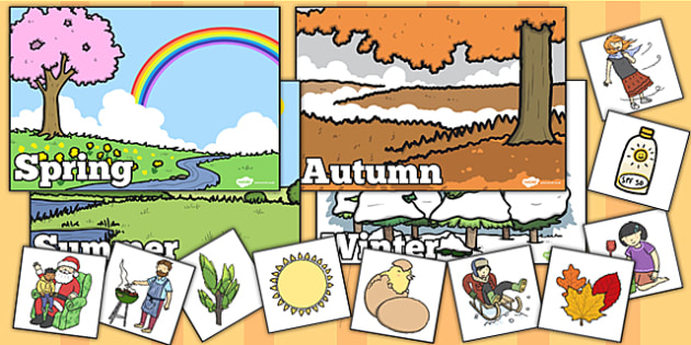 Seasonal Pictures Cut and Stick Activity - seasonal picture, cut and stick, activities, cut and stick activities, seasonal cut and stick, seasonal activities