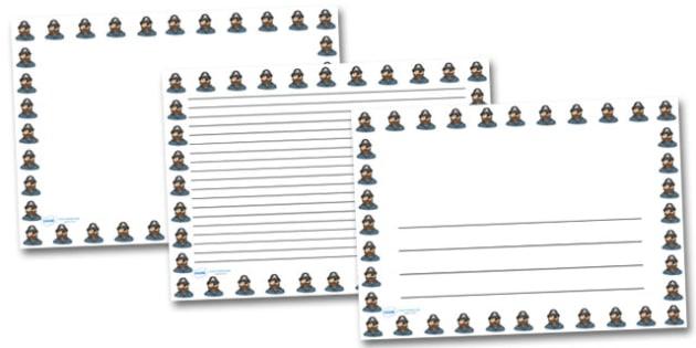 Pirate Captain Landscape Page Borders- Landscape Page Borders - Page border, border, writing template, writing aid, writing frame, a4 border, template, templates, landscape