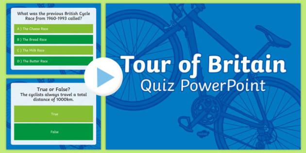 Tour of Britain Quiz PowerPoint