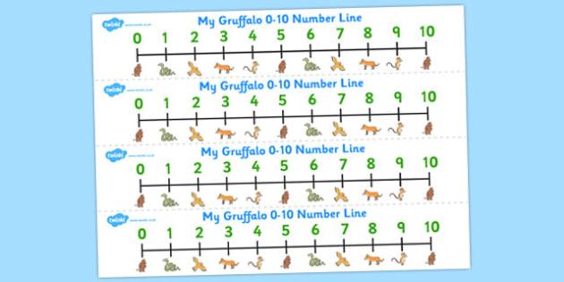 The Gruffalo Number Line 0-10 - gruffalo, number line, 0-10