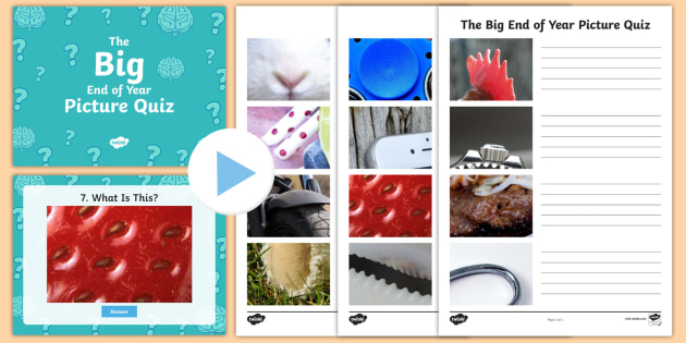 The Big End of Year Picture Quiz Pack - KS2 End of Year and