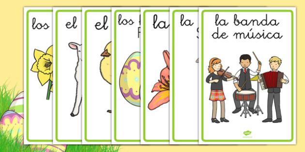Pósters - La Semana Santa - pascua, vocabulario, tradiciones