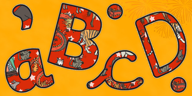 Chinese New Year Story Themed A4 Display Lettering - display