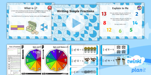 PlanIt Maths Y2 Fractions Lesson Pack Write Simple Fractions (1)