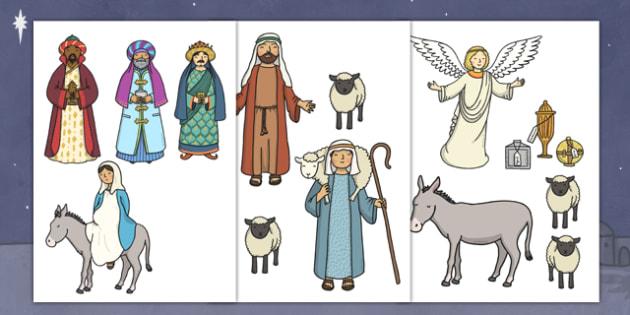 cut out nativity scene nativity christmas story xmas visual