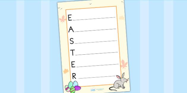 Easter Acrostic Poem - easter, poem, poetry, religion, RE, rhyme