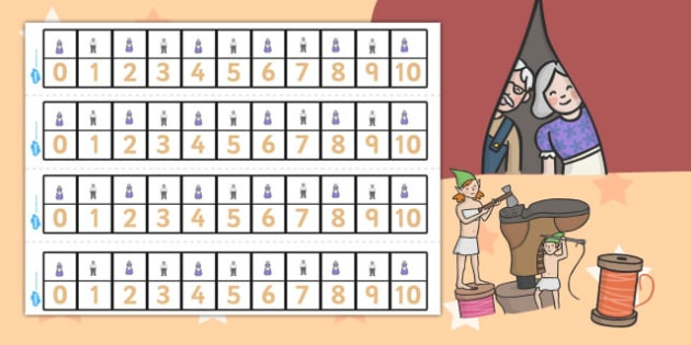 The Elves and the Shoemaker Number Track 1-10 - number tracks