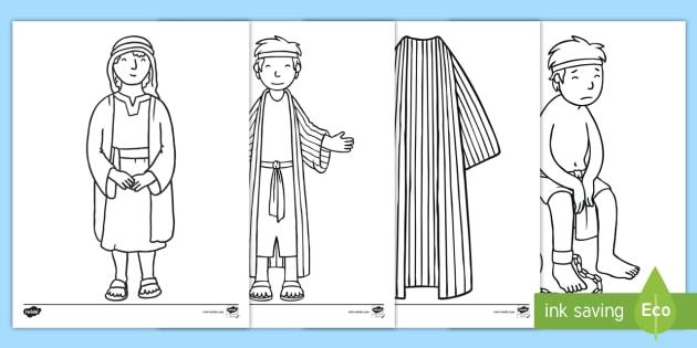 NEW Joseph Story Coloring Sheets