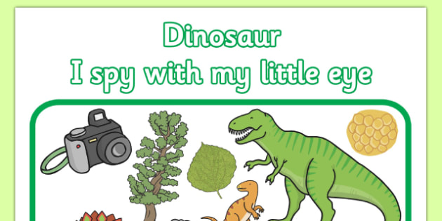 Dinosaur Themed I Spy With My Little Eye Activity - dinosaur