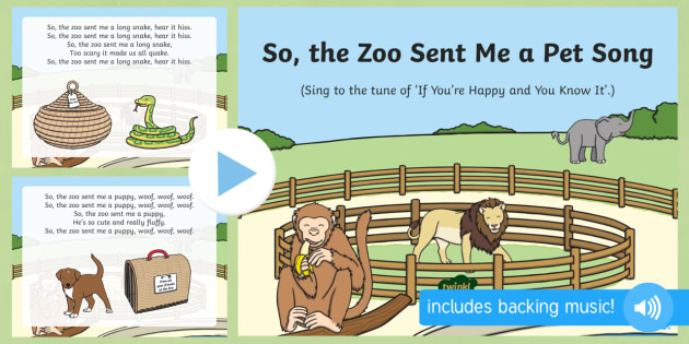 So the zoo sent me a pet song powerpoint dear zoo rod so the zoo sent me a pet song powerpoint dear zoo rod campbell toneelgroepblik