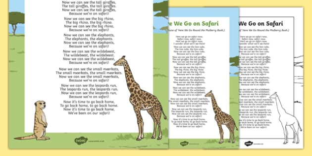 Here We Go on Safari Song