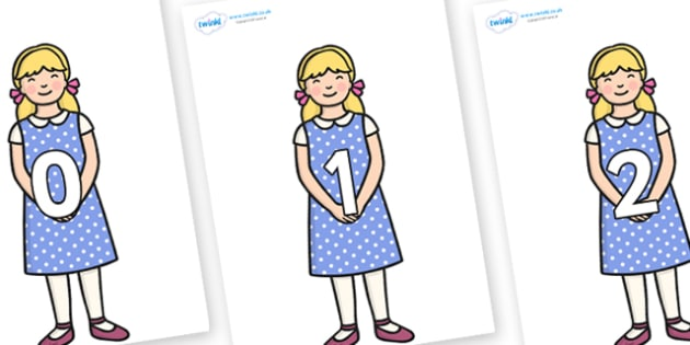 Numbers 0-100 on Goldilocks - 0-100, foundation stage numeracy, Number recognition, Number flashcards, counting, number frieze, Display numbers, number posters