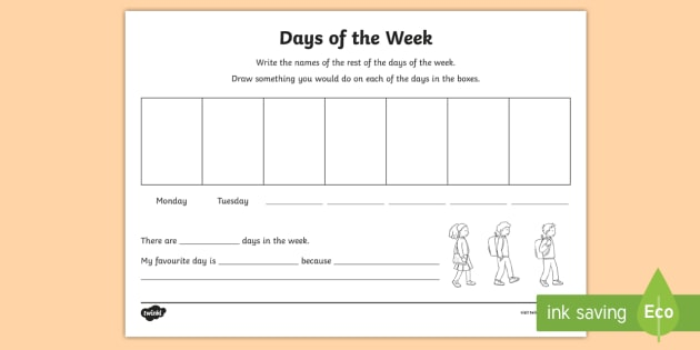 Calendar Worksheet Ks : Ni ks numeracy days of the week worksheet activity