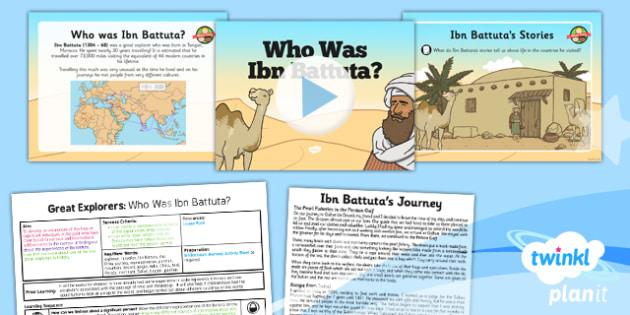 History: Great Explorers: Who Was Ibn Battuta KS1 Lesson Pack 2