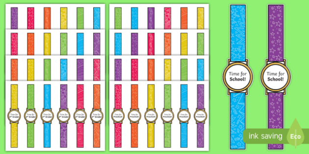 First Day of School Time for... Watches Craft Instructions