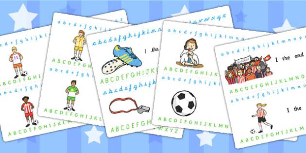 Football World Cup Alphabet Strips - football, sports, alphabet