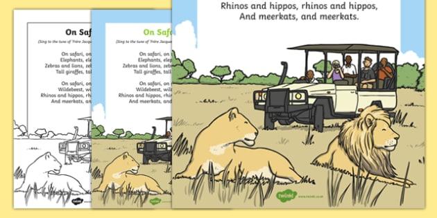 On Safari Song