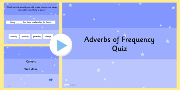 Using Adverbs of Frequency SPaG Grammar PowerPoint Quiz - SPaG